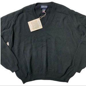 NWT LANDS END The Drifter V Neck Sweater